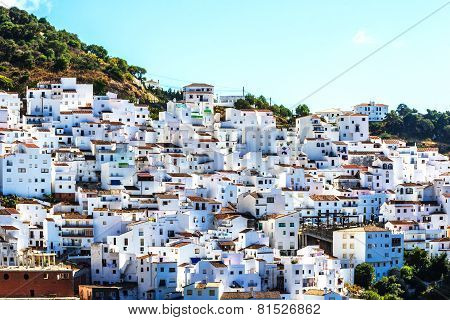 Casares, white village in Andalusian Mountains, Spain