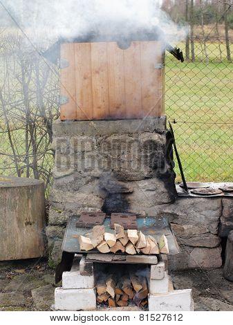 Traditional Rural Smokehouse