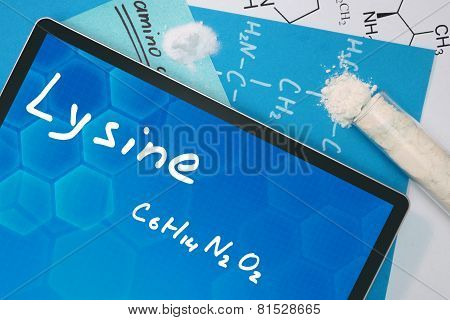 Tablet with the chemical formula of Lysine