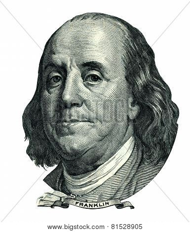 Franklin Benjamin Portrait Cutout (clipping Path)