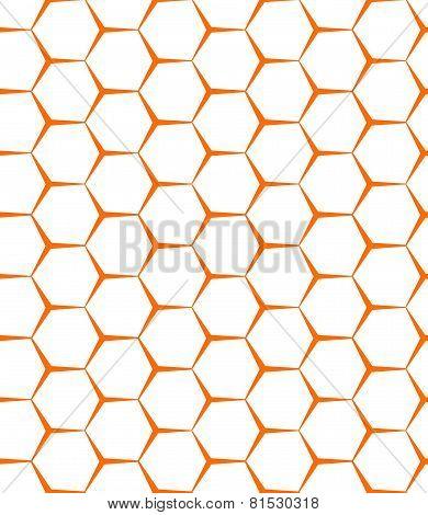 Vector Seamless Background. Backdrop. Empty Honeycomb