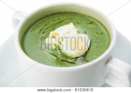 Restaurant Food Isolated - Creamy Spinach Soup