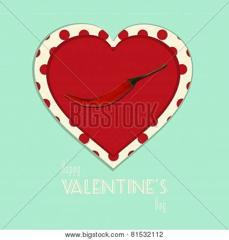 Valentine spicy heart