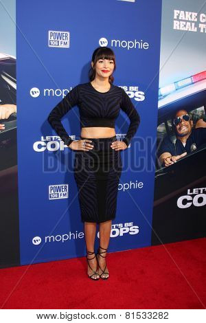 LOS ANGELES - AUG 7:  Hannah Simone at the