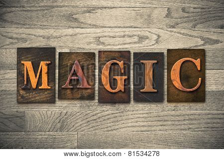 Magic Wooden Letterpress Concept