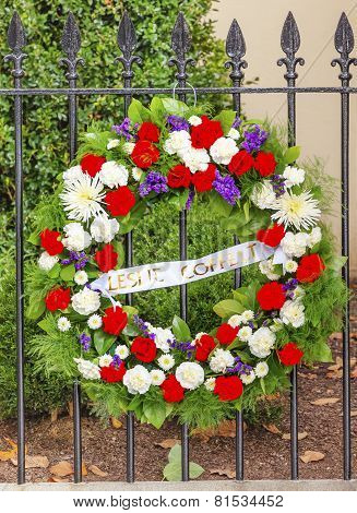 Wreath Dc Office Killed Blair House Building Second White House Washington Dc
