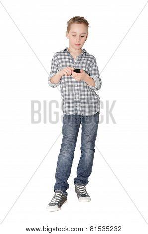 Boy & smartphone