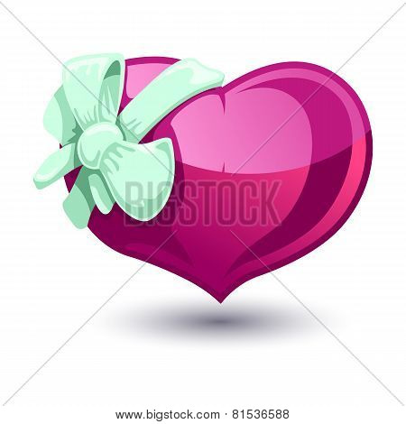 Valentine Heart With A Bow-knot