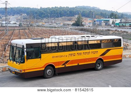 Bullet Proof Bus In Gush Etzion, West Bank