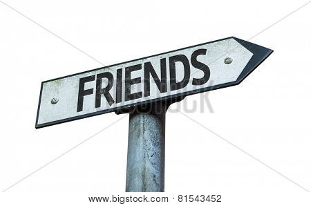 Friends sign isolated on white background
