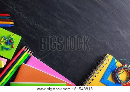 School supplies close-up