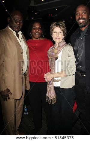 LOS ANGELES - JAN 28: Wale Jimoh, Marcia Thomas, Dr Tamela Hultman, Ntare Guma Mbaho, Mwine at the 30th Anniversary of 'We Are The World' at The GRAMMY Museum on January 28, 2015 in Los Angeles, CA