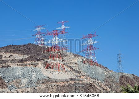 High Voltage Power Poles