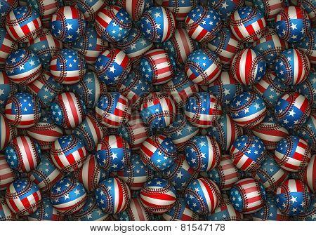 Patriotic Baseball Pattern