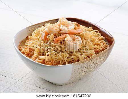 Bowl Of Noodles With Shrimp