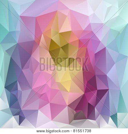 Vector Polygonal Background Pattern - Triangular Design In Spring Paste