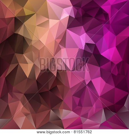 Vector Polygonal Background Pattern - Triangular Design In Expressive