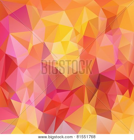 Vector Polygonal Background Pattern - Triangular Design In Bright Color