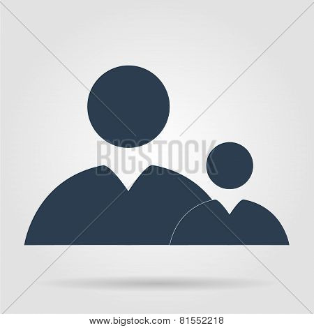Flat  Icon Of Businessman And Child