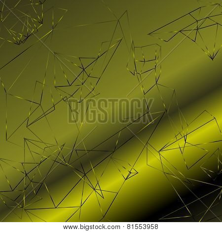 Abstract polygonal green background, vector