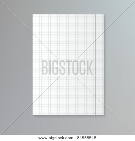White squared paper sheet.