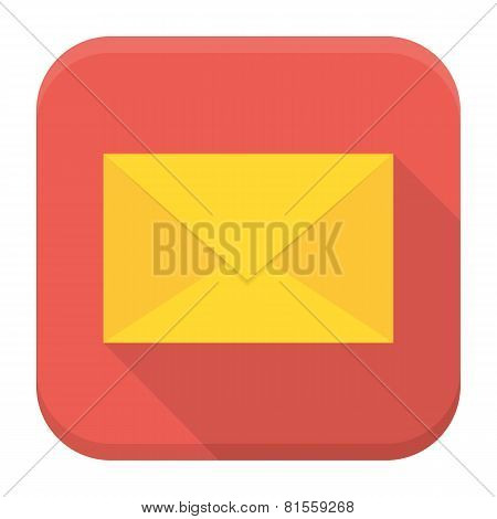 Envelope App Icon With Long Shadow