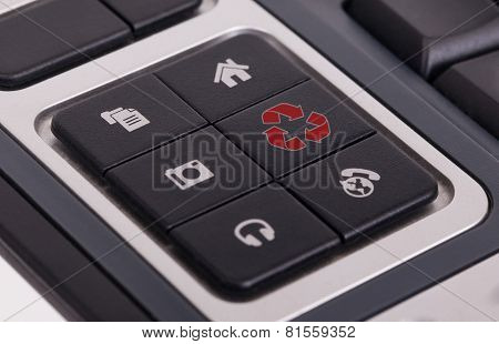 Buttons On A Keyboard - Recycle