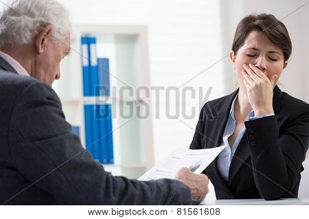 Yawning Interviewer