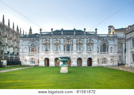 CAMBRIDGE, UK - JANUARY 18, 2015: Senate house (1722-1730). mainly used for the degree ceremonies of