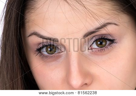 Photo of woman's eyes with make up