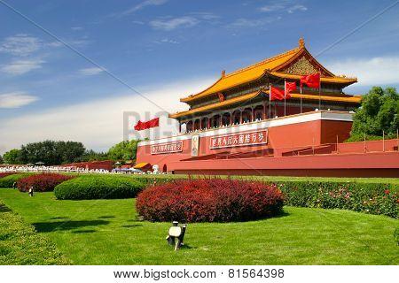 Indian Summer In Beijing Tiananmen Place