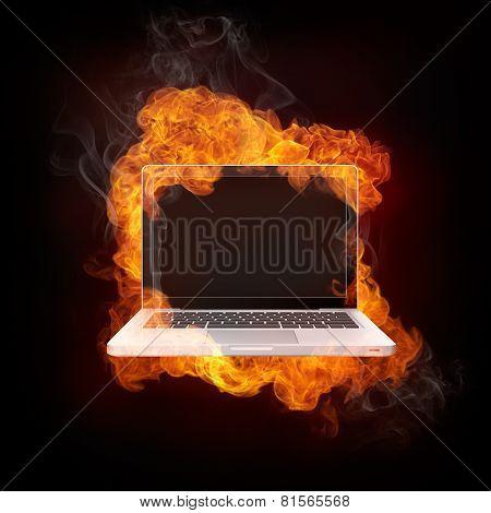 Laptop In Fire
