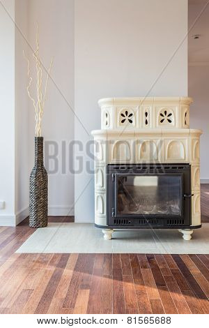 Designer Stove In Living Room