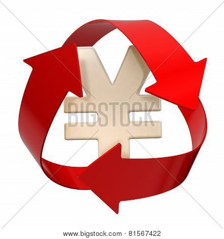 Recycle Yen (clipping path included)