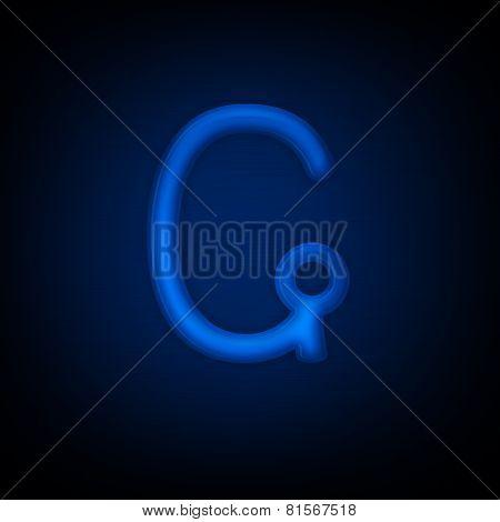 Neon Letter G