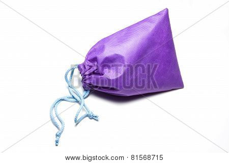 violet cotton bag