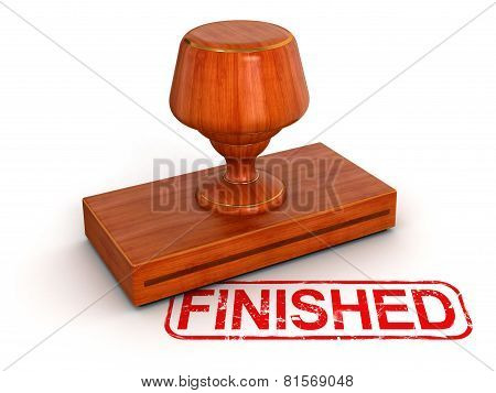 Rubber Stamp Finished (clipping path included)