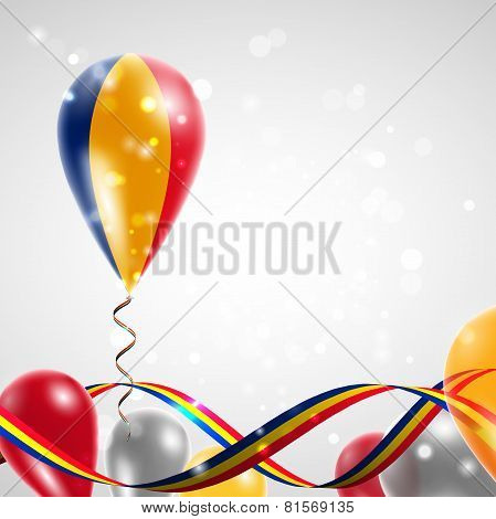 Romanian flag on balloon