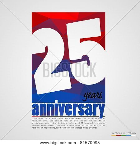 Anniversary modern colorful abstract background.
