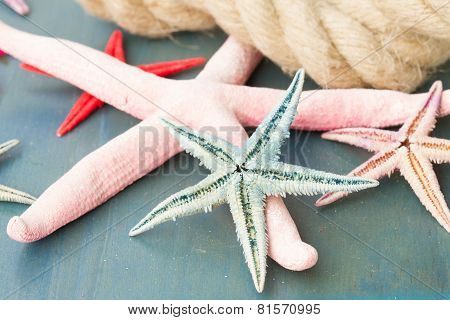 marine rope with starfish
