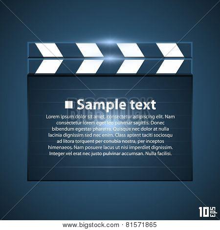 Movie board slapstick