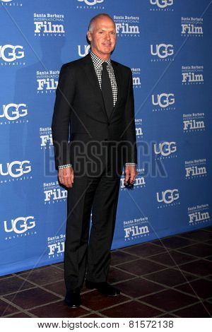 SANTA BARBARA - JAN 31:  Michael Keaton at the Santa Barbara International Film Festival - Modern Master at a Arlington Theater on January 31, 2015 in Santa Barbara, CA