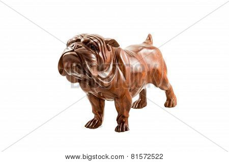 Wooden Statue Of The Dog