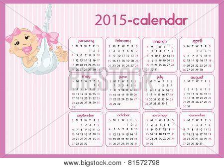 Baby Calendar For Girls