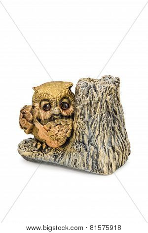 Owl Figurine With A Guitar