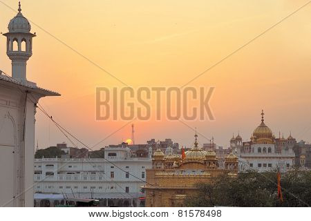 Sikh holy Golden Temple in Amritsar, Punjab, India