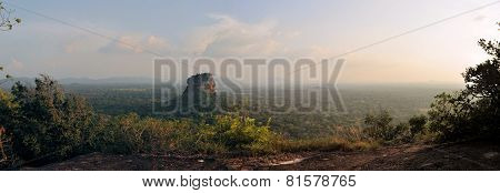 Sigiriya Rock Fortress Panorama from Pidurangala