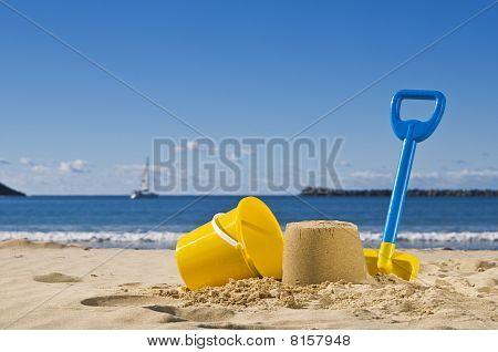 Sand,spade And Bucket