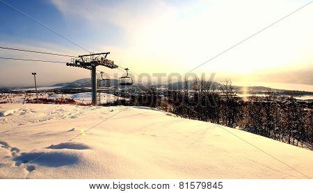 Norway Ski Resort Chair Lift