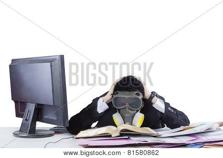 Anxiety Businessman Working In Office